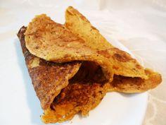 Vegan Lentil Flour Pancake Recipe. Can add zucchini instead of other veggies.