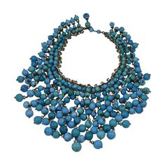 Important  Anglo Indian Gripoix Bib for Chanel | From a unique collection of vintage beaded necklaces at https://www.1stdibs.com/jewelry/necklaces/beaded-necklaces/