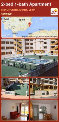 2-bed 1-bath Apartment in Mar De Cristal, Murcia, Spain ►€110,000 #PropertyForSaleInSpain