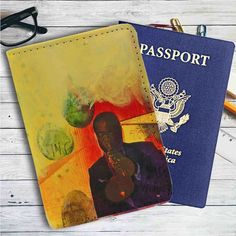 The Louis Amstrong American Jazz Leather Passport Wallet Case Cover