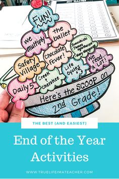 Easy end of the year activities that require minimal prep, but are fun and engaging for students. I use a variety of easy activities, crafts, and writing prompts to keep my students learning and having fun. End Of Year Activities, Kindergarten Activities, Classroom Activities, Fun Activities, Primary School, Elementary Schools, End Of School Year, Theme Days, Summer Bucket Lists