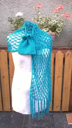 Shawl and bag set / Crochet wrap / shawl and matching bag / purse by KnotSoKnaffKnits on Etsy Bright Purple, Teal, Pink Shawl, Star Blanket, Crochet Shawl, Shawls And Wraps, Purses And Bags, Stitch, Fashion