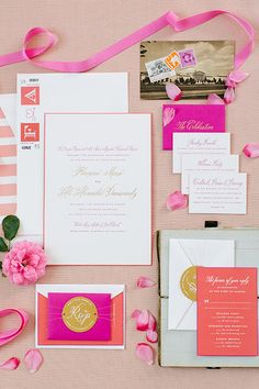 Brides: A Colorful Summer Wedding in Washington, D.C.  Planning and Design by Pineapple Productions.  Paper Goods by Cheree Berry Paper.  Photography by Kate Headley.