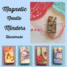 Needle minders magnetic  Handmade  New designs available over in my shop  Don't lose your pins & needles   #crossstitch #sewing #embroidery #needleminder