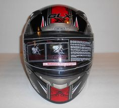 GLX  G-335 Full Face Dot Certified Medium 57-58 Graphic Helmet New #GLX #Motocross #Helmet
