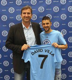 Villa to New York city David Villa, New York City Fc, Major League Soccer, American Sports, Nyc, Club, Football Team, Graphic Sweatshirt, Seasons