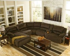 Chocolate Toletta 6-Piece Sectional Non-Power View 1