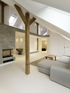 Rounded Loft by A1 Architects -- clean and simple decoration, very friendly
