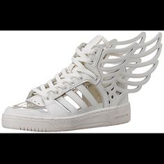 best service 1f32a fa340 adidas Shoes   Jeremy Scott X Adidas   2.0 Cutout Wings Sneaker   Color   White   Size  10