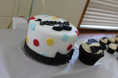 Mustache & Bow Tie Cake and Smash Cake!