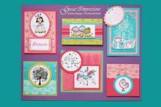 July 2009 DIY Artboard of Cards & Stamps from GreatImpressionsStamps.com