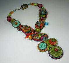 Bead Embroidery Collar by Queen Marcy Originals on etsy