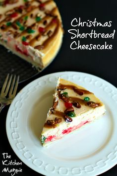I took shortbread & turned it into a Christmas Shortbread Cheesecake.Cherries, pecans & brown sugar sauce top this delectable cheesecake.A holiday favorite!