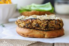 Butternut squash apple burgers with caramelized onion and sage aioli Ingredients:  2 cups rice medley (or other favorite rice) 3 cups veggie broth 3 cups diced butternut squash 1 cup chopped shallots 2 cups diced granny smith apples Himalayan pink salt to taste 2 tablespoons fresh thyme (leaves only) ¼ cup pumpkin seeds