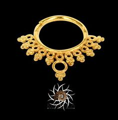 Gold Septum Ring - Septum Jewelry - Septum Piercing - 18G Septum Ring - 16G Septum Ring - Indian Septum Ring - Tribal Septum Ring G14. Gold Septum Ring - Septum Jewelry - Septum Piercing - 18G Septum Ring - 16G Septum Ring - Tribal Septum Ring - Indian Septum Ring - Indian Nose Ring - Tragus Ring - Septum Clicker (G14) This unique septum is made of gold plated brass and decorated with small brass balls. For pierced nose. Can be worn on the ear as well. Available in 18G (1mm) and 16G…