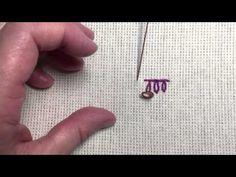 Petal stitch - video (aka petal chain stitch, pendant chain stitch) Hand Embroidery Stitches, Chain Stitch, Needlework, Pattern Design, Pendant, Crafts, Craft Ideas, Videos, Youtube