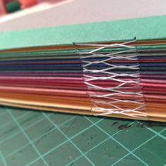 taller de álbum de fotos con escartivanas. encuadernación artesanal
