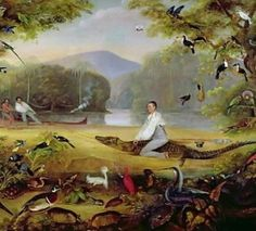 Charles Waterton Capturing a Cayman (detail) by Captain Edward Jones, 1825-26