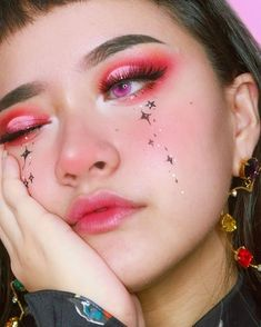 Looking for for inspiration for your Halloween make-up? Browse around this website for unique Halloween makeup looks. Makeup Goals, Makeup Inspo, Makeup Inspiration, Makeup Ideas, Girl Inspiration, Makeup Geek, Makeup Man, Anime Makeup, Fun Makeup