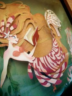Bookworm Mermaid | Paper Art by Brittney Lee♥•♥•♥
