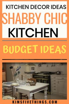Shabby chic kitchen decor ideas on a budget. The shabby chic look lends its self to people wanting to update kitchen on a budget. Romantic Home Decor, Easy Home Decor, Home Decor Styles, Cheap Home Decor, Rustic Chic Kitchen, Shabby Chic Kitchen Decor, Kitchen Decor Sets, Kitchen Styling, Kitchen Ideas