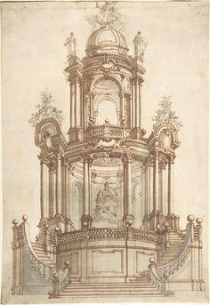 Design for a Theatrum Sacrum Anonymous, Italian, North Italy,  1735–60