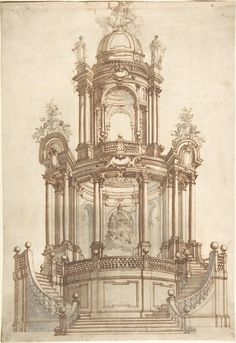 Design for a Theatrum Sacrum Anonymous, Italian, North Italy, 1735–60