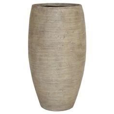21-in H x 12-1/4-in W x 12-1/4-in D Sand Fiberglass Indoor/Outdoor Vase - Lowes 49.97