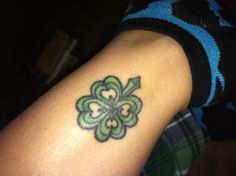 Clover tattoo (This is my tattoo and picture is taken by myself)