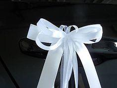 Pierka - Biele mašle na kľučky áut - 9493838_