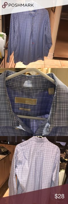 Men's Michael Kors non iron button down Finalprice Excellent condition size 17 men's non iron Michael Kors button down Michael Kors Shirts Dress Shirts