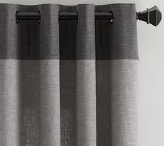 Emery Border Linen/Cotton Curtain – Gray/Charcoal Emery Border Linen Drape, 50 x Gray/Charcoal At Pottery Barn – Rugs & Windows – Drapes & Curtains – Linen Grey Linen Curtains, Grey Blackout Curtains, Striped Curtains, Cotton Curtains, Grommet Curtains, Drapes Curtains, Bedroom Curtains, Window Drapes, Bed Linen