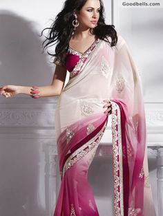 Beautiful Pink & Cream Saree in just $110.00 at Goodbells. Click here to buy: http://goodbells.com/saree/beautiful-pink-and-cream-saree.html?utm_source=pinterest_medium=link_campaign=pin21juneR0P464