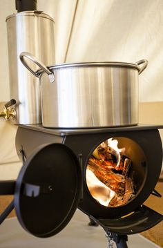 Street food news article on the Frontier Stove.