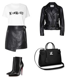 """Chic outfit"" by demmygeor on Polyvore featuring Sacai, Étoile Isabel Marant, Christian Louboutin and Acne Studios"