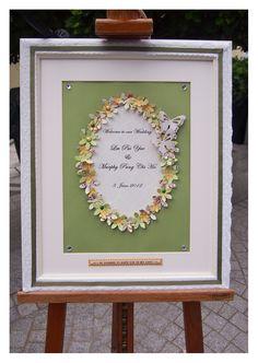 Pegeo Wedding Welcome Board / olive green