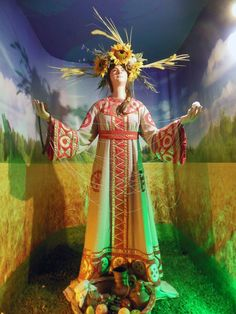 Mokosh – goddess of women's destiny, harvest, child birth and traditional crafts; Museum of Slavic Mythology and Fairy Tales, Russia.