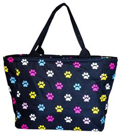 Multicolor Pawprint Insulated Lunch Tote Bag   #NGIL #LunchBag