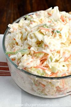 This Copycat Chick-fil-A Cole Slaw recipe is amazing! This is the perfect side dish to any BBQ or potluck!