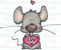 Luv U Mouse - Mice - Animals - Rubber Stamps - Shop