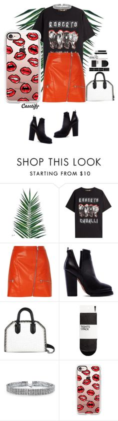 """""""RED   CASETIFY"""" by yagmur ❤ liked on Polyvore featuring Nika, Roberto Cavalli, River Island, Jeffrey Campbell, STELLA McCARTNEY, Bling Jewelry and Casetify"""