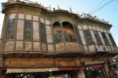Balcones tradicionales en Basora