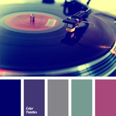 color combination, color selection, dark-violet, deep blue-green color, deep blue-violet, gray and violet, gray-green, muted pink, pastel shades, pink-lilac, sea green color, violet-red.