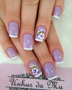 Pin de maria en uñas purple nail designs, nails y wedding na Birthday Nail Designs, Birthday Nails, Birthday Design, Purple Nail Designs, Nail Art Designs, Nails Design, Nail Designs For Spring, Trendy Nails, Cute Nails