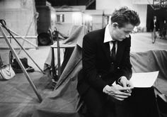 """James Dean on the set of East of Eden, 1955, photo by Bob Willoughby"""