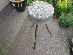 Nowadays we see a lot of DIYs involving cement. However, this woman's idea is cheap, easy, and really darn creative!