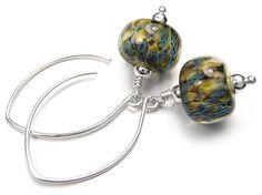 Lampwork Glass Earrings - Nebula