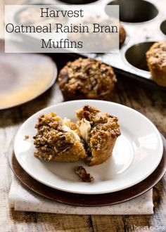 Healthier bran muffins that are full of fruit. Make these and freeze for easy breakfasts!
