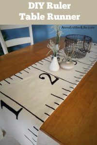 DIY Sewing Projects for the Kitchen - DIY Ruler Table Runner - Easy Sewing Tutorials and Patterns for Towels, napkinds, aprons and cool Christmas gifts for friends and family - Rustic, Modern and Creative Home Decor Ideas http://diyjoy.com/diy-sewing-projects-kitchen