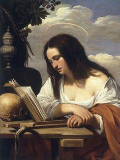 Penitent Mary Magdalene — Saraceni, Carlo, Galleria dell'Accademia, Venise, (1615)